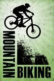 Mountain Biking Green Sports Plastic Sign Kunststof bord