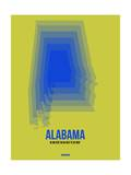 Alabama Radiant Map 3 Prints by  NaxArt