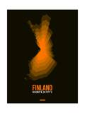 Finland Radiant Map 2 Print by  NaxArt