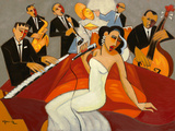 In The Mood - for Jazz Giclee Print by Marsha Hammel