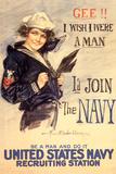 U.S. Navy I'd Join the Navy WWII Propaganda Vintage Plastic Sign Znaki plastikowe