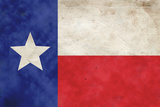 Texas Flag Distressed Plastic Sign Wall Sign