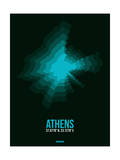 Athens Radiant Map 2 Prints by  NaxArt