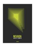 Nevada Radiant Map 4 Poster by  NaxArt