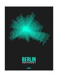 Berlin Radiant Map 3 Print by  NaxArt