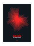 Warsaw Radiant Map 4 Print by  NaxArt