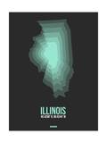 Illinois Radiant Map 4 Prints by  NaxArt