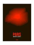 Paris Radiant Map 4 Prints by  NaxArt