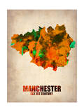 Manchester Watercolor Poster Prints by  NaxArt
