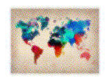 Dotted World Map 1 Prints by  NaxArt