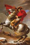 Jacques-Louis David (Napoleon exceed the great St. Bernard Pass) Plastic Sign Cartel de plástico