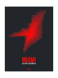 Miami Radiant Map 3 Prints by  NaxArt