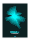 Bucharest Radiant Map 3 Prints by  NaxArt