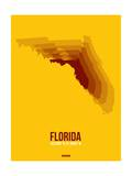 Florida Radiant Map 3 Posters by  NaxArt