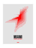 Miami Radiant Map 1 Poster by  NaxArt