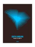 South Carolina Radiant Map 5 Posters by  NaxArt
