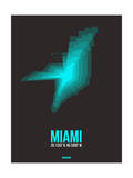 Miami Radiant Map 5 Prints by  NaxArt