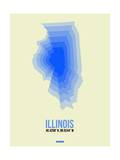 Illinois Radiant Map 1 Print by  NaxArt