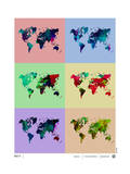 World Map Poster Prints by  NaxArt