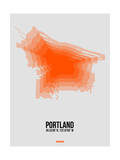 Portland Radiant Map 5 Poster by  NaxArt