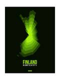 Finland Radiant Map 3 Prints by  NaxArt