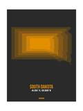 South Dakota Radiant Map 6 Prints by  NaxArt