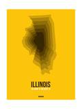 Illinois Radiant Map 3 Posters by  NaxArt