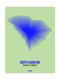 South Carolina Radiant Map 2 Prints by  NaxArt