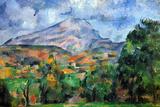 Paul Cezanne Mount St Victoire Plastic Sign Plastic Sign