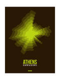 Athens Radiant Map 1 Poster by  NaxArt