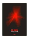 Atlanta Radiant Map 3 Print by  NaxArt
