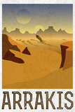 Arrakis Retro Travel Plastic Sign Plastic Sign