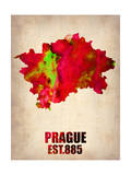 Prague Watercolor Poster Posters by  NaxArt
