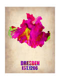 Dresden Watercolor Poster Posters by  NaxArt