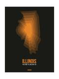 Illinois Radiant Map 5 Posters by  NaxArt
