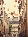 Flying Over Paris Giclee Print by Irene Suchocki