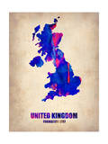 UK Watercolor Poster Poster by  NaxArt