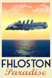 Fhloston Paradise Retro Travel Plastic Sign Plastic Sign