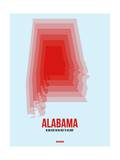Alabama Radiant Map 2 Print by  NaxArt