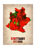Stuttgart Watercolor Poster Art by  NaxArt