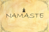 Namaste Plastic Sign Plastic Sign