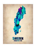 Sweden Watercolor Poster Posters af NaxArt