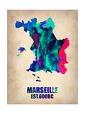Marseille Watercolor Poster Posters par  NaxArt
