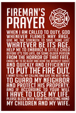 A Fireman's Prayer Plastic Sign Plastic Sign