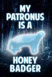 My Patronus is a Honey Badger Humor Plastic Sign Plastic Sign