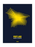 Portland Radiant Map 4 Prints by  NaxArt