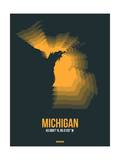 Michigan Radiant Map 4 Posters by  NaxArt