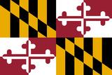 Maryland State Flag Plastic Sign Znaki plastikowe