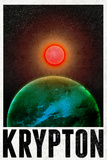 Krypton Retro Travel Plastic Sign Wall Sign