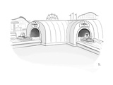 Tunnel of Love ride intersects with a Tunnel of Voyeurism ride. - New Yorker Cartoon Premium Giclee Print by Paul Noth